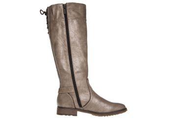 Mustang Shoes  Stiefel in Übergrößen Taupe 1265-510-318 große Damenschuhe – Bild 4