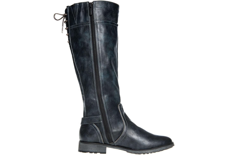 Mustang Shoes Stiefel in Übergrößen Navy 1265-510-820 große Damenschuhe – Bild 4