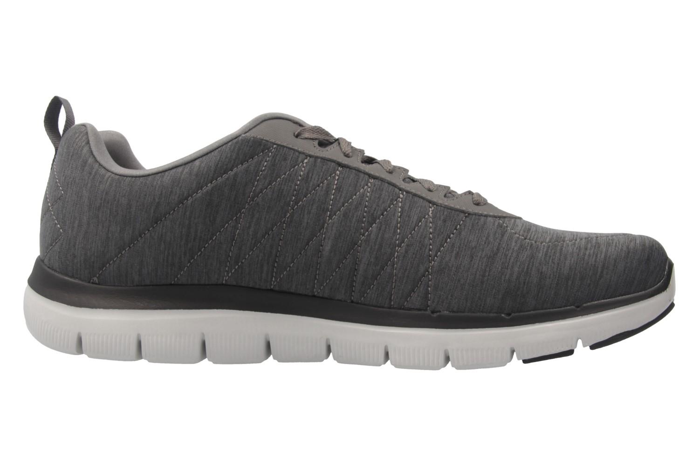 Skechers FLEX ADVANTAGE 2.0 CHILLSTON Sneaker in Übergrößen Grau 52186 CHAR große Herrenschuhe – Bild 4