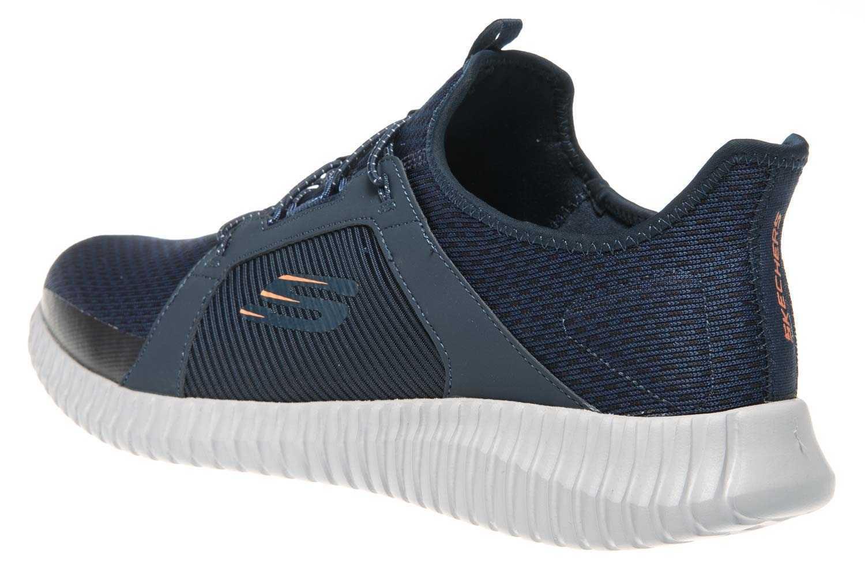Skechers ELITE FLEX Sneaker in Übergrößen Blau 52640 NVOR große Herrenschuhe – Bild 2