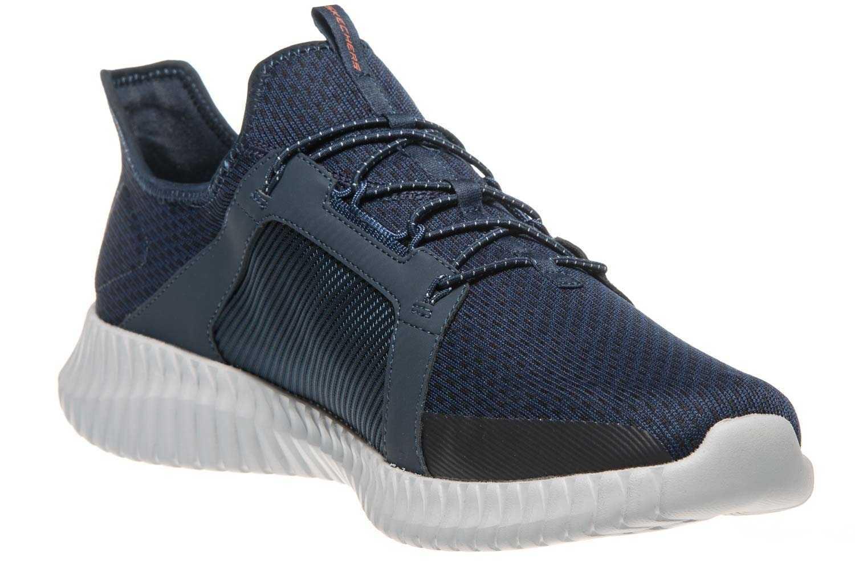 Skechers ELITE FLEX Sneaker in Übergrößen Blau 52640 NVOR große Herrenschuhe – Bild 5