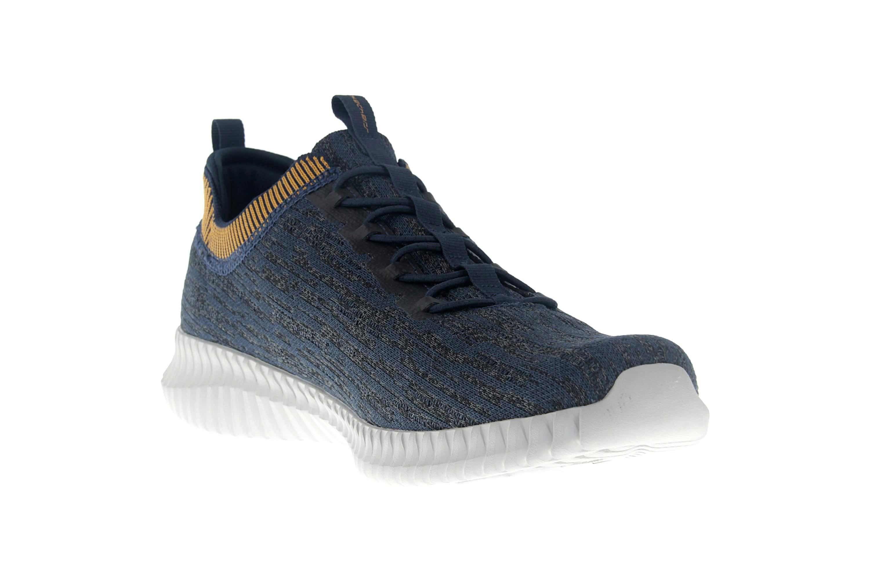 Skechers ELITE FLEX HARTNELL Sneaker in Übergrößen Blau 52642 NVYL große Herrenschuhe – Bild 5