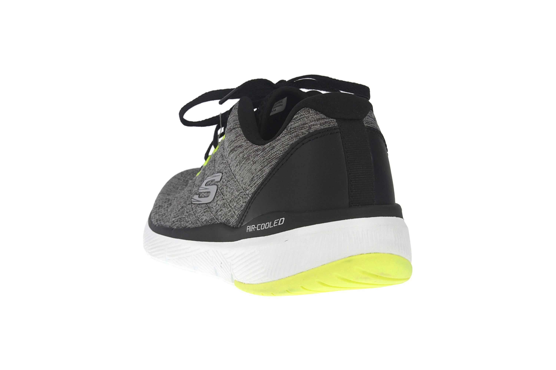 Skechers FLEX ADVANTAGE 3.0 STALLY Sportschuhe in Übergrößen Grau 52957 GYBK große Herrenschuhe – Bild 2