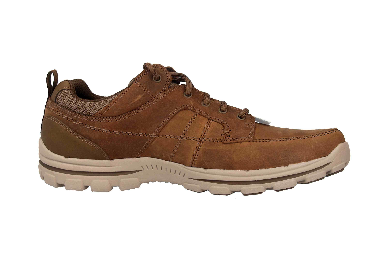 Skechers BRAVER RALSON Sneaker in Übergrößen Braun 65580 DSRT große Herrenschuhe – Bild 4