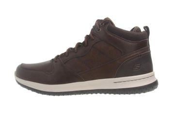 Skechers DELSON RALCON Sneaker in Übergrößen Braun 65691 CHOC große Herrenschuhe – Bild 1