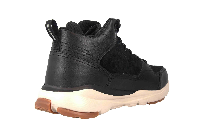 Skechers Soven Vandor Sneakers Leder Black Schwarz