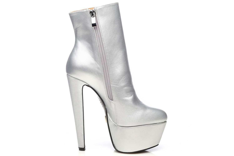 Giaro Selena Stiefelette in Übergrößen Silber Selena Silver Mate große Damenschuhe – Bild 4