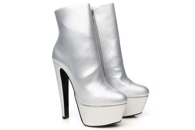 Giaro Selena Stiefelette in Übergrößen Silber Selena Silver Mate große Damenschuhe – Bild 5