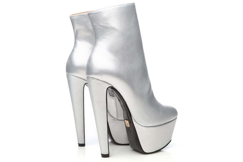 Giaro Selena Stiefelette in Übergrößen Silber Selena Silver Mate große Damenschuhe – Bild 6