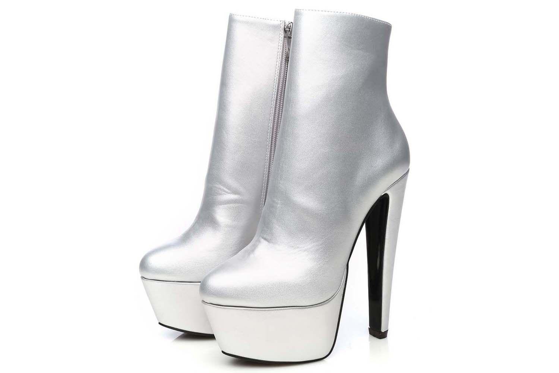 Giaro Selena Stiefelette in Übergrößen Silber Selena Silver Mate große Damenschuhe – Bild 7