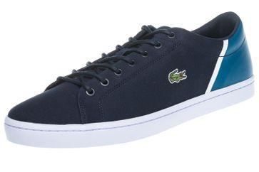 LACOSTE Sneaker in Übergrößen Blau 7-35CAM0100ND1 große Herrenschuhe – Bild 1