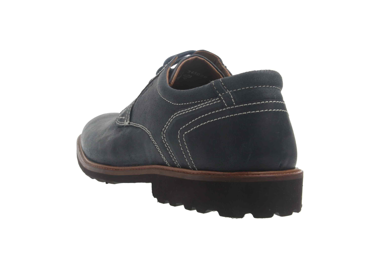 Manz Firenze AGO Puratex Business-Schuhe in Übergrößen Blau 146064-03-041 große Herrenschuhe – Bild 2