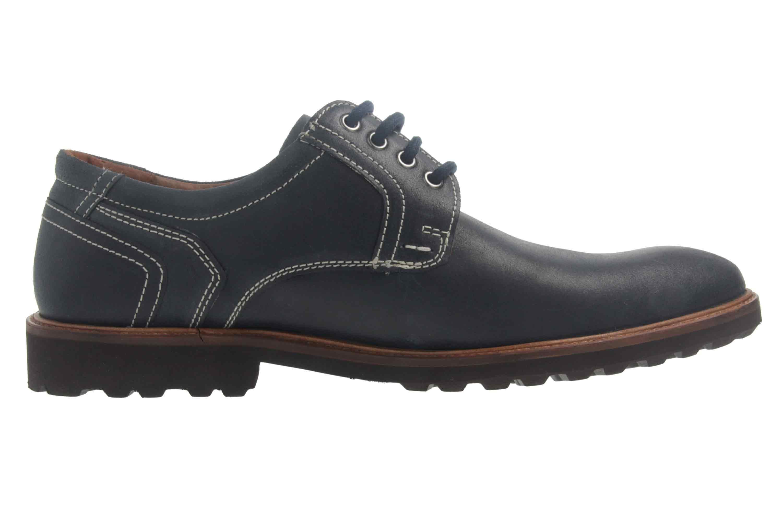 Manz Firenze AGO Puratex Business-Schuhe in Übergrößen Blau 146064-03-041 große Herrenschuhe – Bild 4