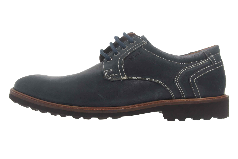 Manz Firenze AGO Puratex Business-Schuhe in Übergrößen Blau 146064-03-041 große Herrenschuhe – Bild 1