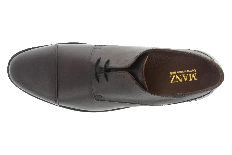 Manz Kay AGO Business-Schuhe in Übergrößen Braun 142090-02-187 große Herrenschuhe – Bild 7