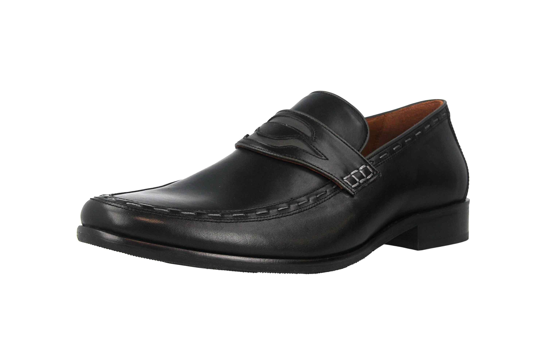 Manz Enrico AGO Business-Schuhe in Übergrößen Schwarz 111010-03-303 große Herrenschuhe – Bild 6