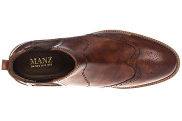 Manz Firenze AGO  Stiefelette in Übergrößen Braun 146057-03-177 große Herrenschuhe – Bild 8