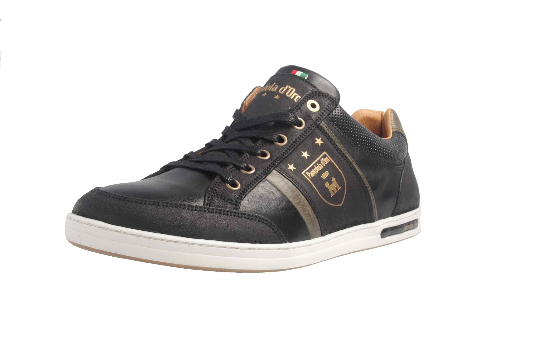 PANTOFOLA D'ORO Sneaker in Übergrößen Schwarz große Herrenschuhe – Bild 6