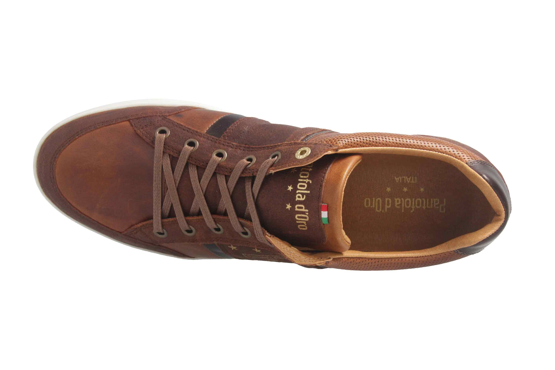 PANTOFOLA D'ORO Sneaker in Übergrößen Braun große Herrenschuhe  – Bild 7