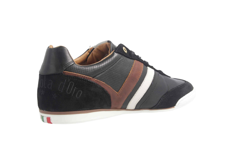 PANTOFOLA D'ORO Sneaker in Übergrößen Schwarz große Herrenschuhe – Bild 3