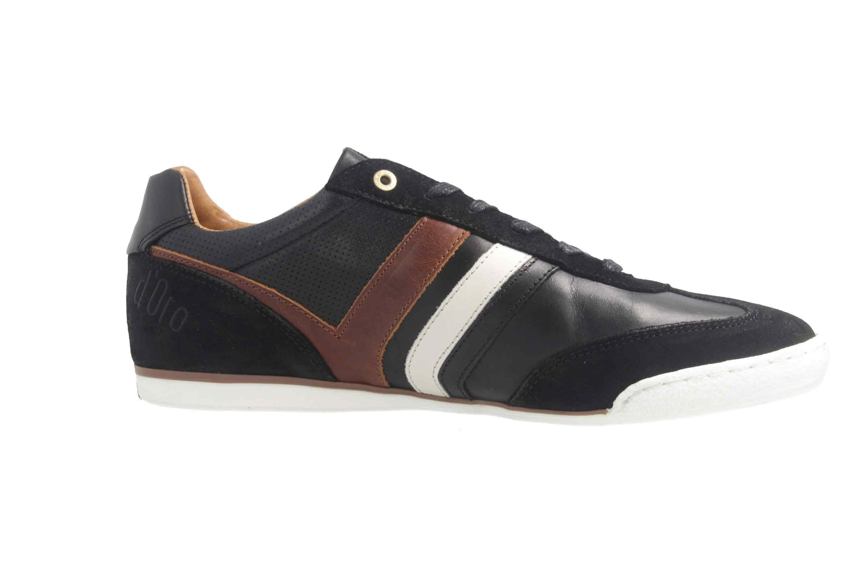 PANTOFOLA D'ORO Sneaker in Übergrößen Schwarz große Herrenschuhe – Bild 4