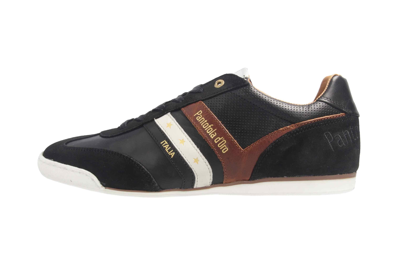PANTOFOLA D'ORO Sneaker in Übergrößen Schwarz große Herrenschuhe  – Bild 1