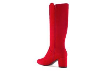 Andres Machado AM4098 Ante Rojo Stiefel in Übergrößen Rot AM4098 ANTE ROJO große Damenschuhe – Bild 2