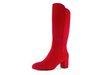 Andres Machado AM4098 Ante Rojo Stiefel in Übergrößen Rot AM4098 ANTE ROJO große Damenschuhe – Bild 1