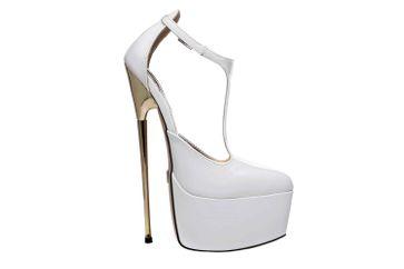 Giaro Hero 1002 High Heels in Übergrößen Weiß große Damenschuhe – Bild 4