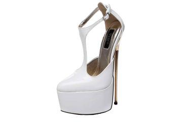 Giaro Hero 1002 High Heels in Übergrößen Weiß große Damenschuhe – Bild 6