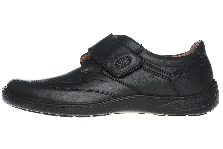 meet 8d2d9 85f98 Jomos Herrenschuhe Slipper Klettverschluss Artikel 413206 23 000 Milano  Schwarz Schuhe in Übergrößen