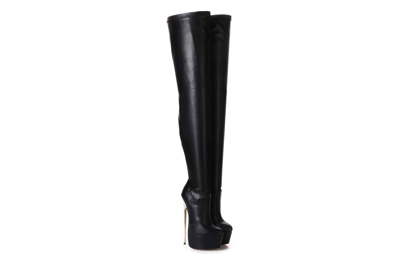 Giaro Hero 1004 Overknee Stiefel in Übergrößen Schwarz große Damenschuhe – Bild 3