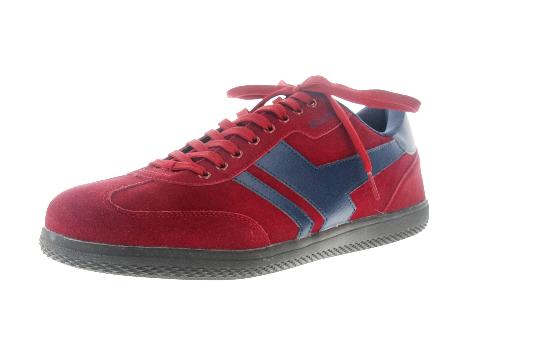 Boras Sneaker in Übergrößen Rot 3541-1528 große Herrenschuhe – Bild 6