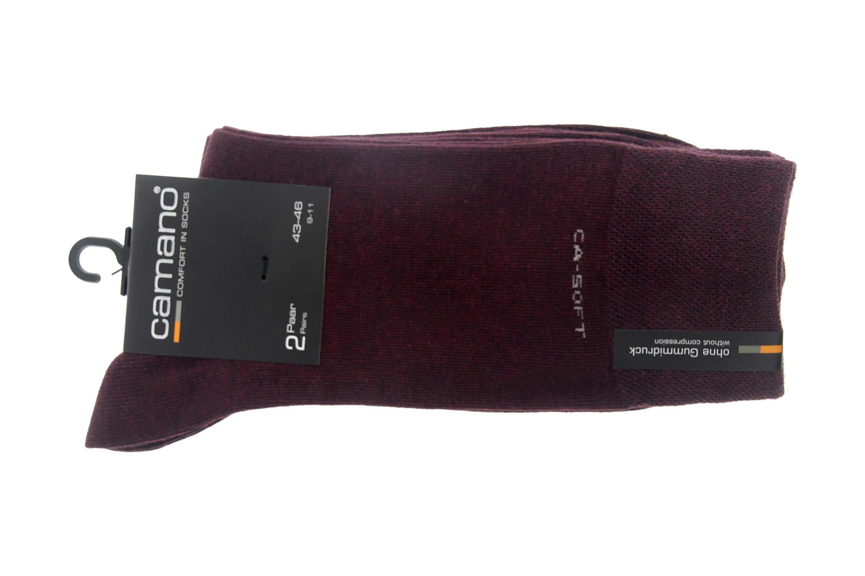camano - Socken 2er Pack - Bordo Melange XXL Socken- 3642 60 – Bild 1