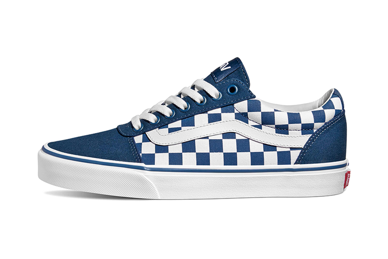 Details zu VANS MN Ward (Checkerboard) Sailor Blu Sneaker in Übergrößen Mehrfarbig VN0A38DM