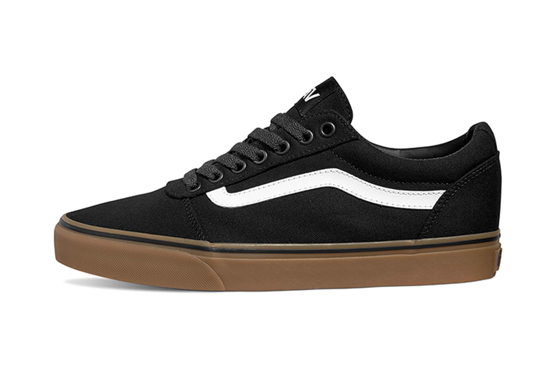 VANS MN Ward (Canvas) Black/gum Sneaker in Übergrößen Schwarz VN0A36EM7HI  große Herrenschuhe