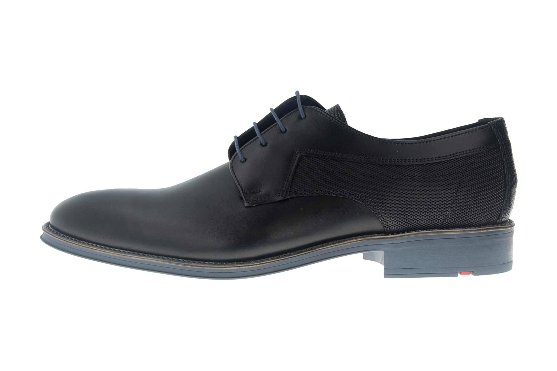 LLOYD GENF Business-Schuhe in Übergrößen Schwarz/Blau 19-059-11 große Herrenschuhe – Bild 1