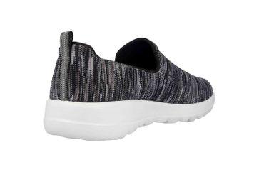 Skechers GO WALK JOY TERRIFIC Sneakers in Übergrößen Schwarz 15615 BKGY große Damenschuhe – Bild 3