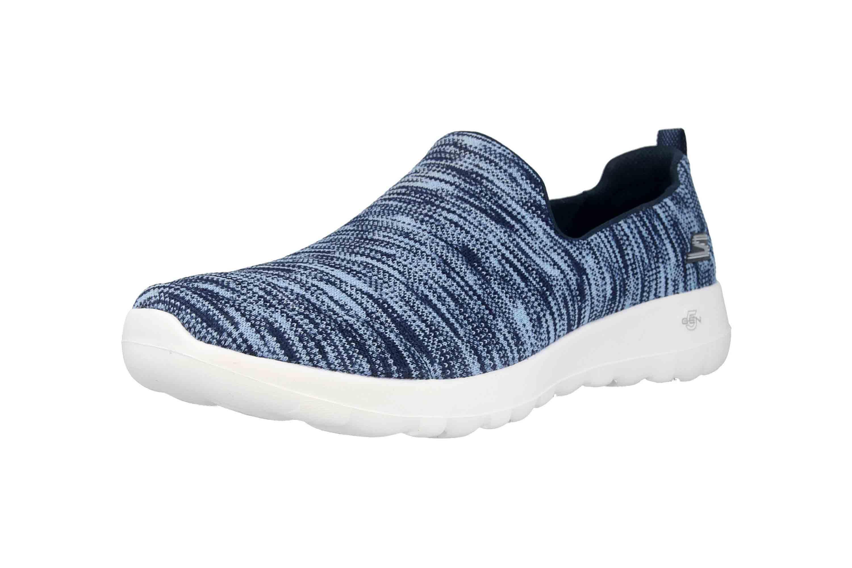 Skechers GO WALK JOY TERRIFIC Sneakers in Übergrößen Blau 15615 NVW große Damenschuhe – Bild 6