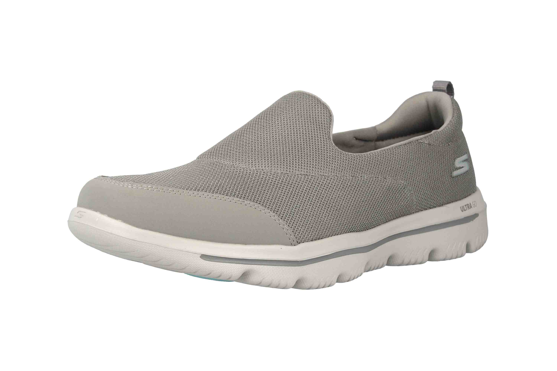 Skechers GO WALK EVOLUTION ULTRA REACH Sneakers in Übergrößen Grau 15730 GRY große Damenschuhe – Bild 6