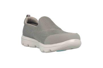 Skechers GO WALK EVOLUTION ULTRA REACH Sneakers in Übergrößen Grau 15730 GRY große Damenschuhe – Bild 5