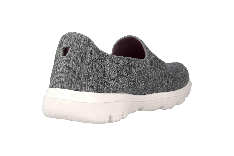 Skechers GO WALK EVOLUTION ULTRA AMAZED Sneakers in Übergrößen Grau 15733 GRY große Damenschuhe – Bild 3