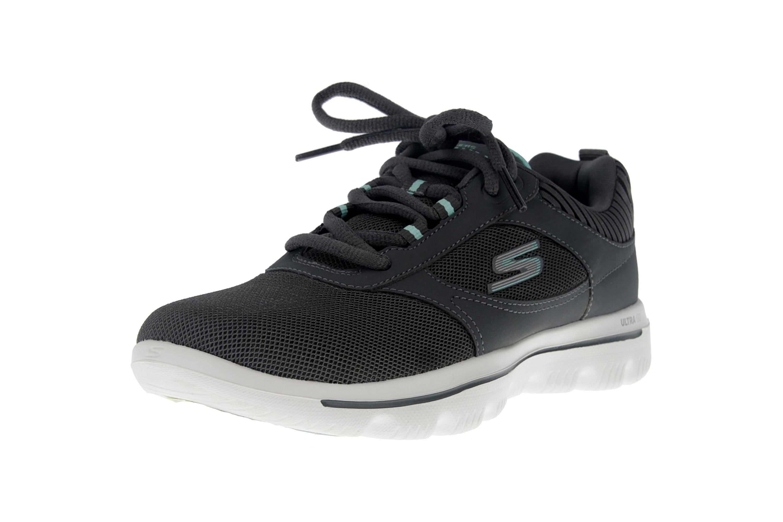 Skechers GO WALK EVOLUTION ULTRA ENHANCE Sneakers in Übergrößen Grau 15734 CCLB große Damenschuhe – Bild 6
