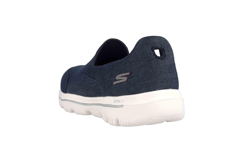 Skechers GO WALK EVOLUTION ULTRA BELIEF-X Sneakers in Übergrößen Blau 15739 NVW große Damenschuhe – Bild 2