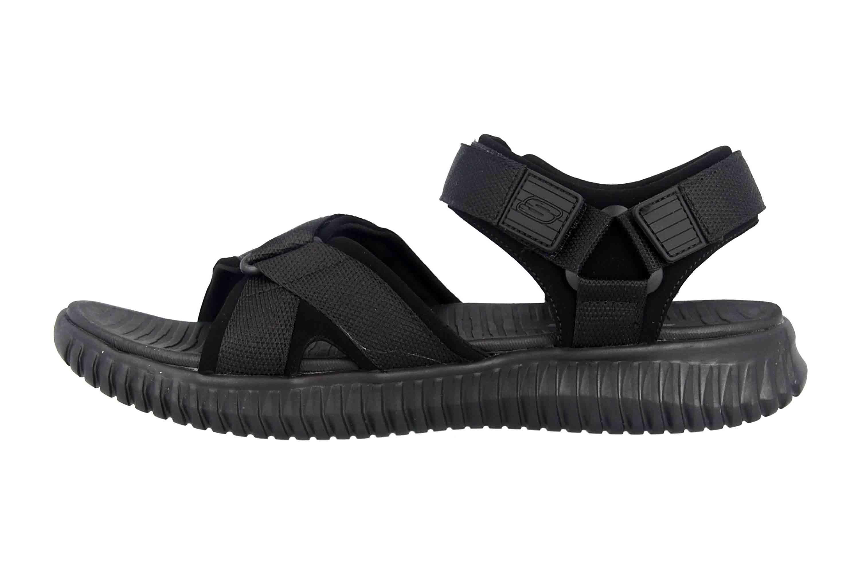 Details zu Skechers ELITE FLEX LINSTON Sandalen in Übergrößen Schwarz 51722 BBK große Herre
