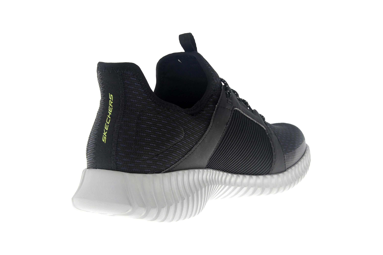 Skechers ELITE FLEX Sneakers in Übergrößen Schwarz 52640 BKGY große Herrenschuhe – Bild 3