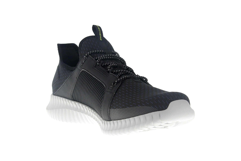 Skechers ELITE FLEX Sneakers in Übergrößen Schwarz 52640 BKGY große Herrenschuhe – Bild 5