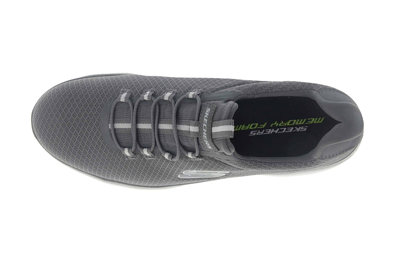 Skechers SUMMITS Sneakers in Übergrößen Grau 52811 CHAR große Herrenschuhe – Bild 7