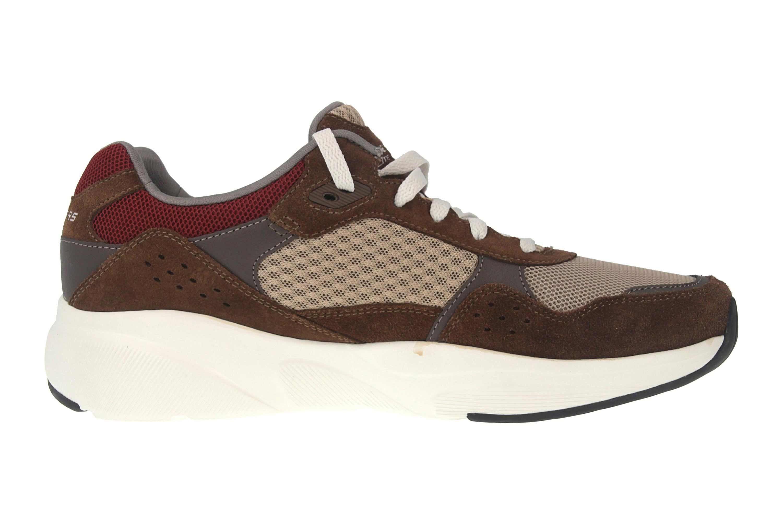 Skechers MERIDIAN Sneakers in Übergrößen Braun 52952 BRN große Herrenschuhe – Bild 4