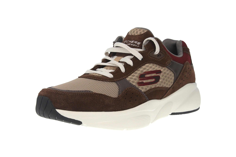 Skechers MERIDIAN Sneakers in Übergrößen Braun 52952 BRN große Herrenschuhe – Bild 6